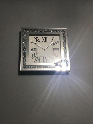 Diamanté wall clock (some missing diamonds)