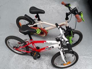 2 bicicletas DtB y Btwin niños 3-6 años