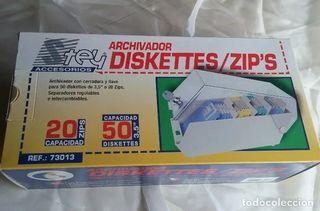 Archivador 50 diskettes/ disquetes 3,5 pulgadas.