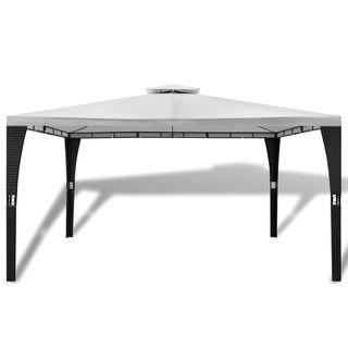 vidaXL Cenador con techo 3x4 m blanco 41452