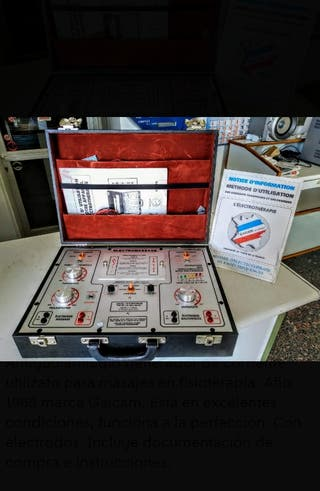 Maletín electeoterapia vintage
