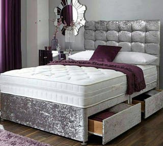 HUGE SALE DOUBLE BED WITH MATTRESS & HEADBOARD