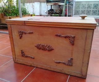 Baúl Vintage de madera ideal restaurar