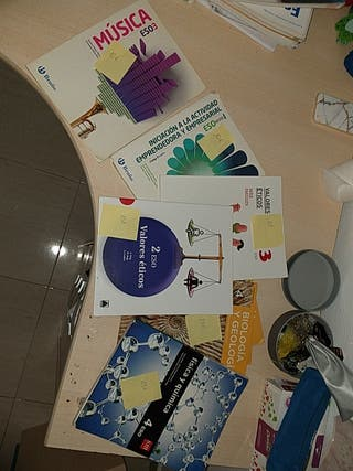 Libros texto secundaria ESO.