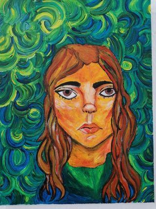 Cuadro expresionista retrato