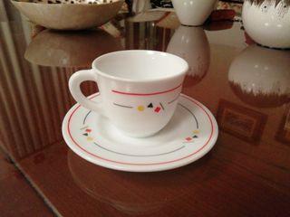 taza con plato 6 unidades
