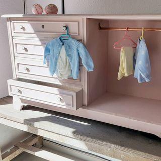 cajonera cómoda mueble restaurado vintage