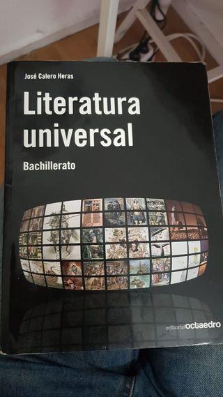 Literatura universal, libro de bachillerato bach