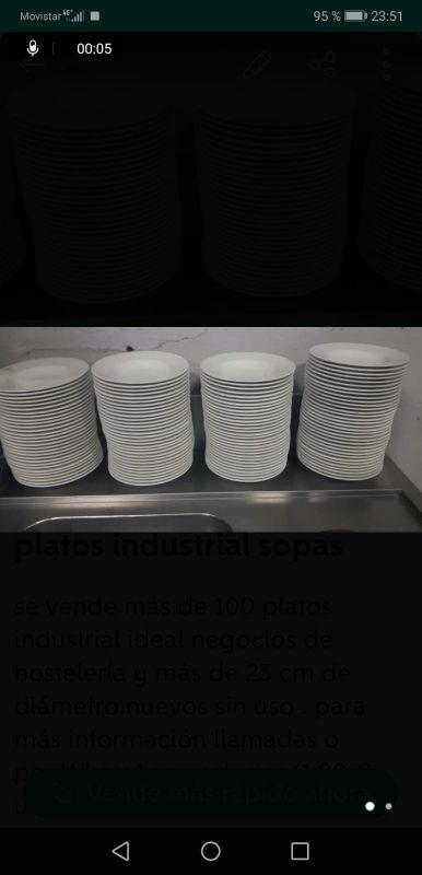 Platos soperos hostelería 1.5 por unidas