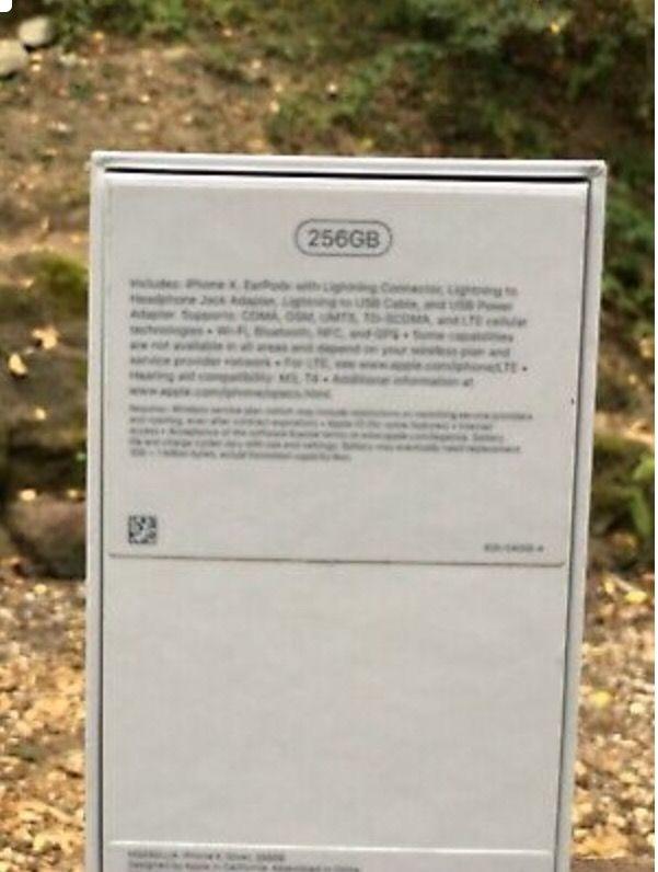 Apple iPhone X - 256GB - Unlocked Silver (Verizon)