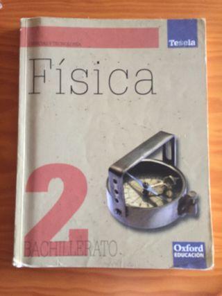 Libro física segundo bachillerato editorial Oxford