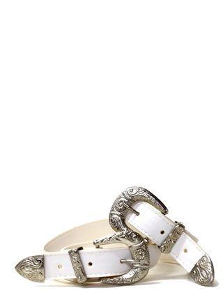 Cinturón blanco doble hebilla