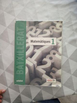 libro de matemáticas de 1r de Bachillerato