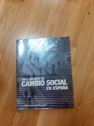 libro tres décadas de cambio social en España