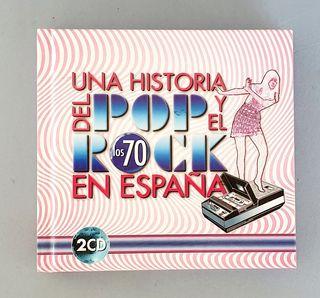 Libro doble CD historia pop rock en España, 70's