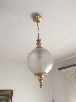 Lampara de techo y lampara de mesilla vintage