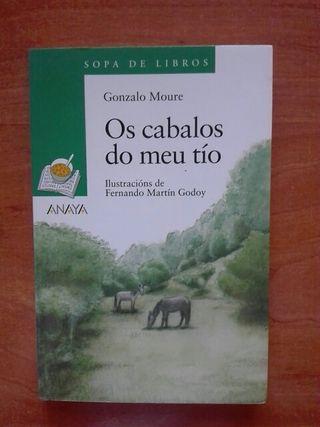 Libro Os cabalos do meu tío. Gonzalo Moure.