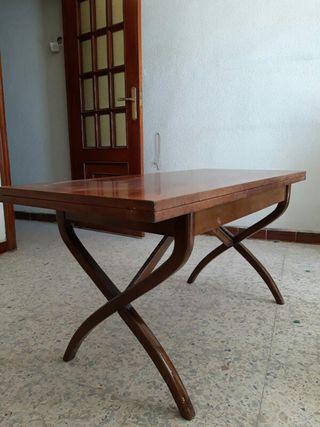 Mesa madera plegable dos alturas vintage
