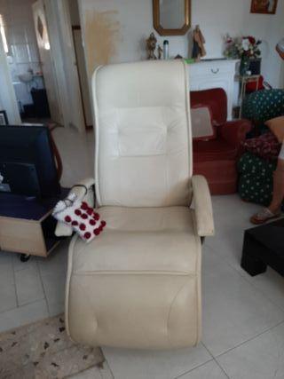 sillón electrico de piel relax vibrador