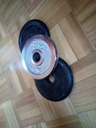 Disco Pesas 1kg ( 3 x 2 ) Domyos