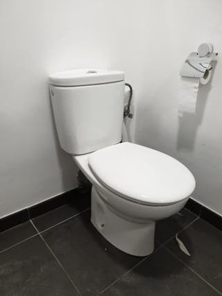 Lavabo con grifería y WC Roca