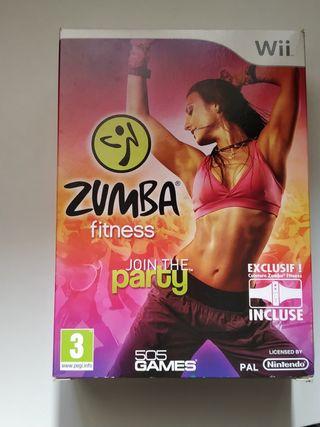 Juego para Wii Zumba Fitness con cinturon