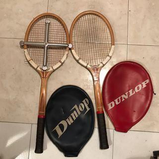 Raquetas de tenis antiguas de madera