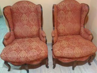 pareja de sillones estilo luis XVI