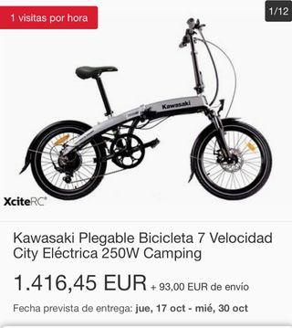 Kawasaki plegable eléctrica folding 20