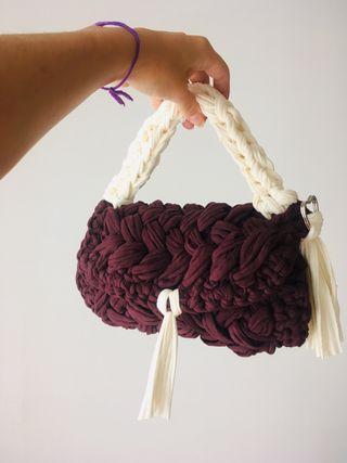 Bolso cartera tejida crochet