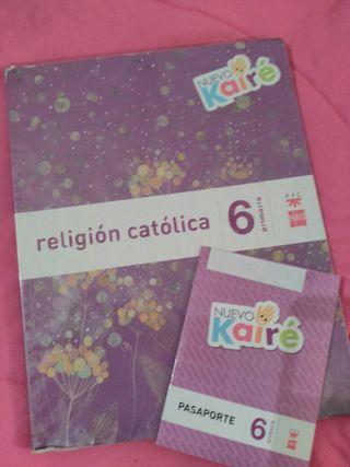 vendo libro Religión Católica 6° Primaria