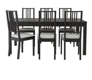 Conjunto Bjurska Ikea: Mesa+6 sillas