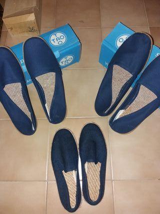 """zapatillas nuevas""""esparteñas"""" n°36,43 y 44"""
