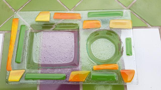 Bandeja cristal colores