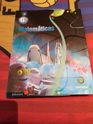 libro de Matemáticas Edelvives sexto de Primaria