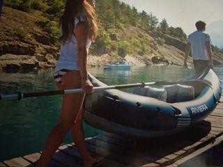 Kayak hinchable / inflable + remo desmontable