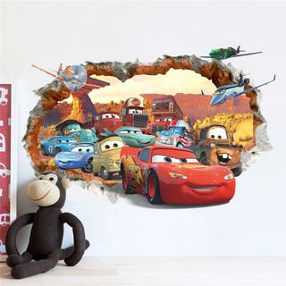 Vinilo decorativo pared Cars Disney Rayo Mcqueen
