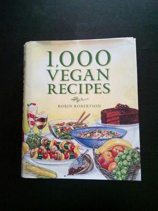libro cocina vegana: 1000 vegan recipes