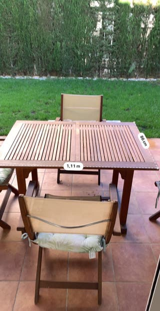 Mesa de teca jardín