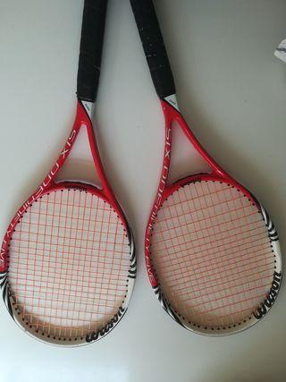 raqueta tenis wilson six one 95