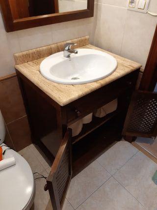 vendo lavabo con el espejo a juego y con la pila