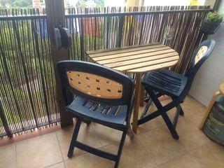 2 sillas de exterior plegables