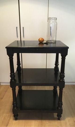 Mueble estantería negro