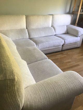 Sofá de tela 5 plazas