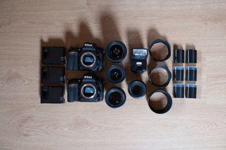Nikon d750 + objetivos + flash + baterías...