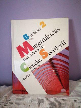 Libro de matemáticas 2 Bachillerato anaya