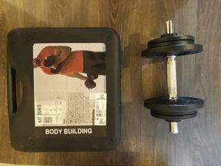 kit de musculación pesas de 20 kg