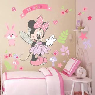 Vinilo sticker decorativo pared Minnie Mouse