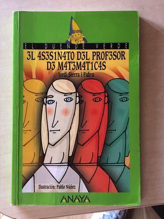 Libro El Asesinato del Profesor de Matematicas