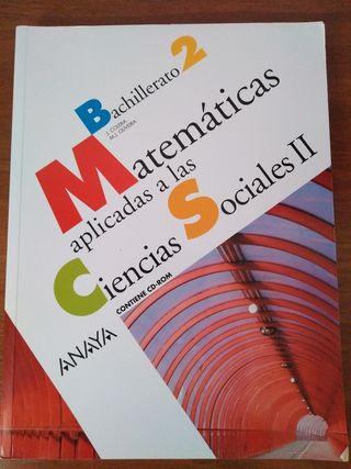 Libro de matemáticas de bachillerato.